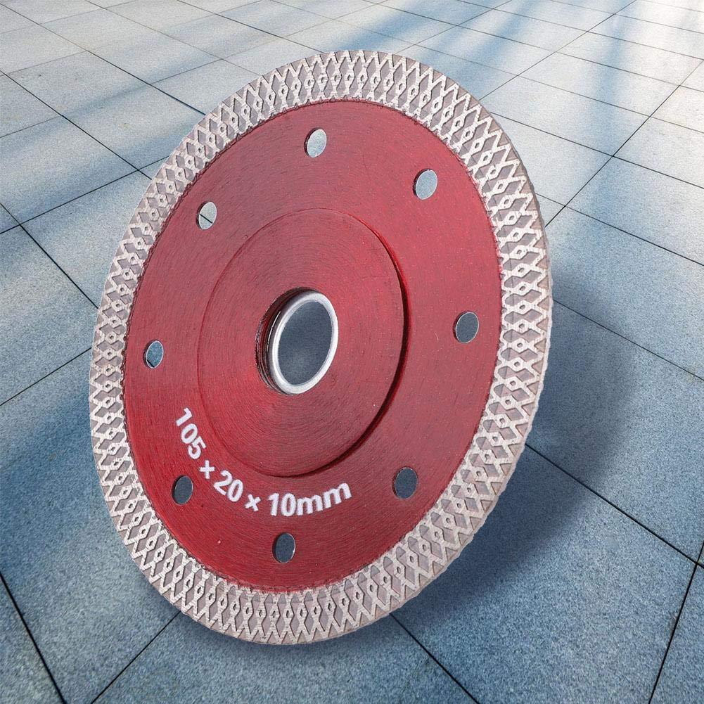 Diamond Saw Blade, 105mm Diamond Cutting Disc Saw Blade Wheel for Ceramic Tiles Microlite for Ceramics Vitrified Brick Home Decoration