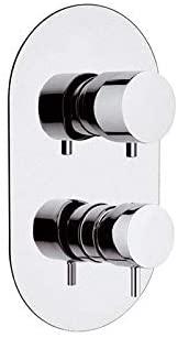 Daniel Tokyo Chrome TK612D2 single lever wall mounted shower mixer with diverter