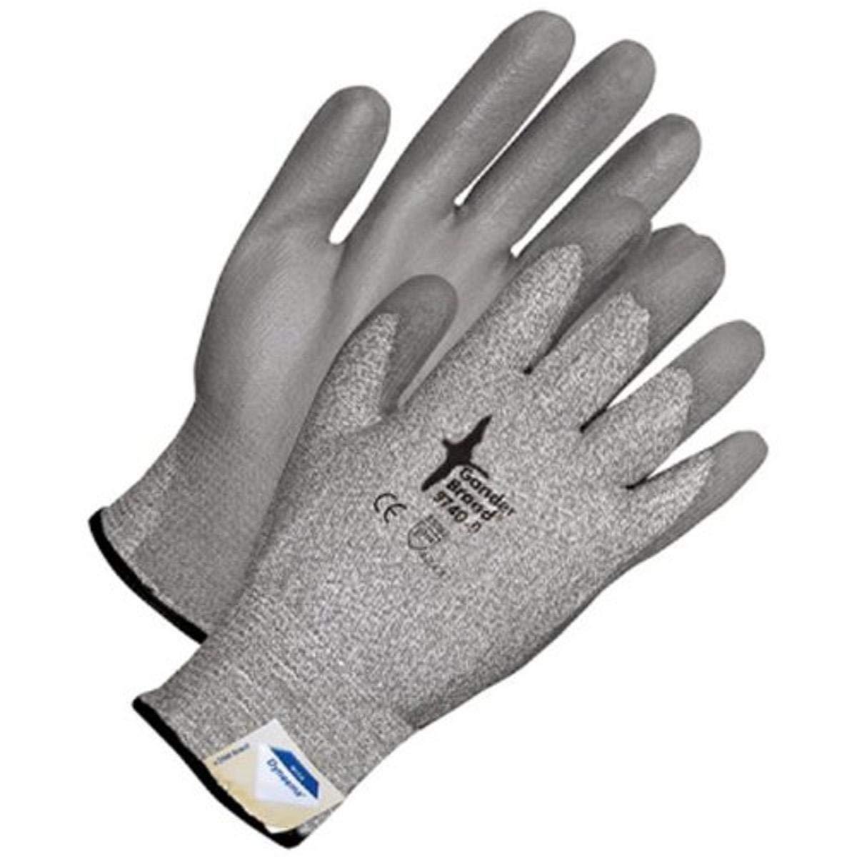 Bob Dale 99-1-9740-10 Seamless Knit Glove, Dyneema, Cut Level 3 Polyurethane Palm, Size 10, Grey