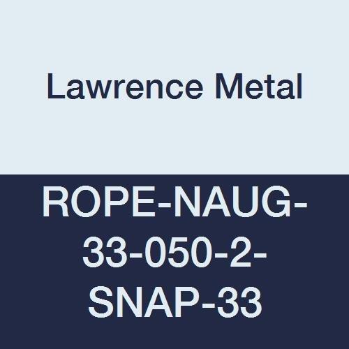 Lawrence metal ROPE-NAUG-33-050-2-SNAP-33 Rope Naugahyde Black 5' 0