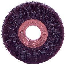 WEILER POLYFLEX Steel Wheel Brush 0.014 in Bristle Diameter - Arbor Attachment - 2 in Outside Diameter - 1/2 in Center Hole Size - 35070