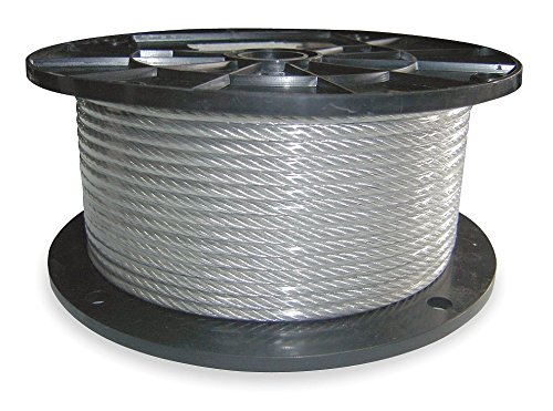Dayton Cable, 1/16 in, L100Ft, WLL96Lb, 7x7, SS - 2VJP9