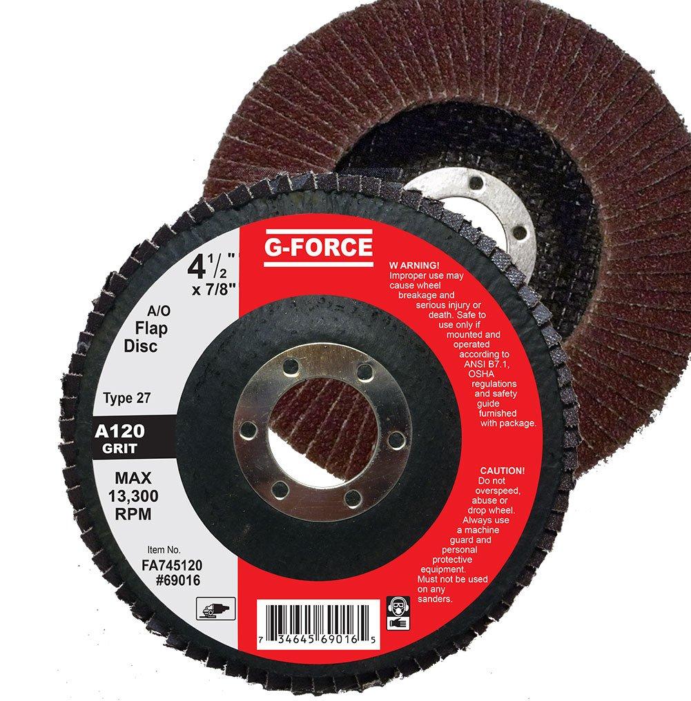 Griton FA745120 Industrial Type 27 Abrasive Flap Disc, 4 1/2
