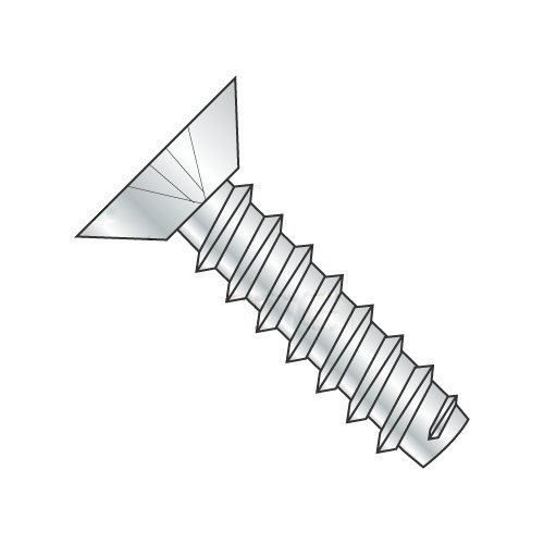 #8 x 3/8 Type B Self-Tapping Screws/Phillips/Flat Undercut Head/Steel/Zinc (Carton: 10,000 pcs)
