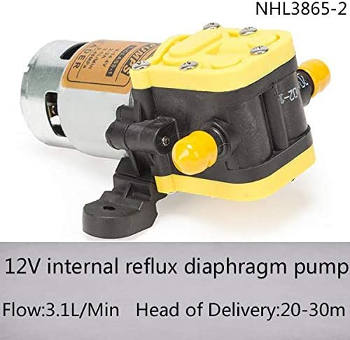 Pumps, Parts & Accessories NHL3865-2 12V DC micro internal recirculation self-priming diaphragm pump with 3.1l/min flow and 20-40m head of delivery - (Voltage: 12V)