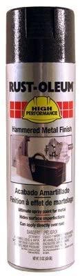 Rust-Oleum High Performance V2100 System Hammered Aerosol, Metal Black 20 Oz. Can - Lot of 6