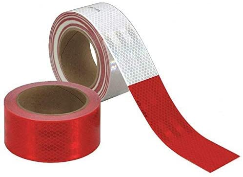 3M Diamond Grade 983-K2 Red / White Reflective Conspicuity Tape - 0.014 to 0.018 in Thick - Vehicle Trailer Marking Length: 48 ft - 30859 [PRICE is per KIT]