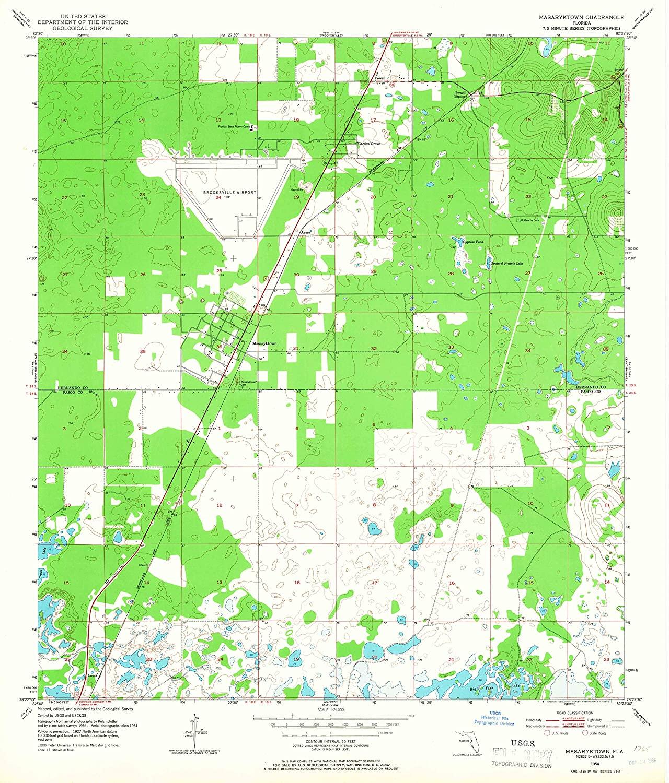 Map Print - Masaryktown, Florida (1954), 1:24000 Scale - 24