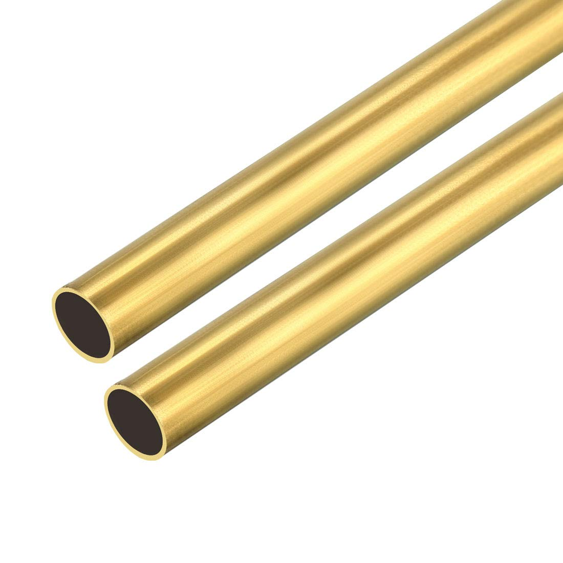 uxcell 2PCS 4mm x 5mm x 500mm Brass Pipe Tube Round Bar Rod for RC Boat