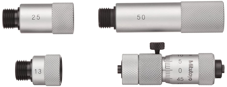 Mitutoyo 137-205 Tubular Vernier Inside Micrometer, Extension Rod Type, 50-1500mm Range, 0.01mm Graduation, +/-0.043mm Accuracy, 10 pcs Extension Rods
