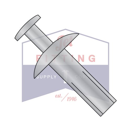 3/16X13/32 Tamper Proof Drive Pin Rivets | Brazier Head | All Aluminum (Quantity: 1000)