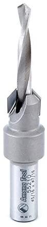 Amana Tool - 55210 Carbide Tipped 82° Countersink #10 Screw 7/16 Dia x 3/16 Drill Di
