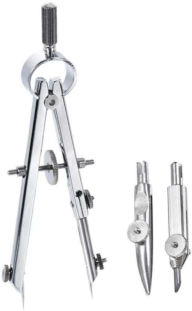uxcell Spring Bow Compass Set with Lock for Drafting Drawing Math