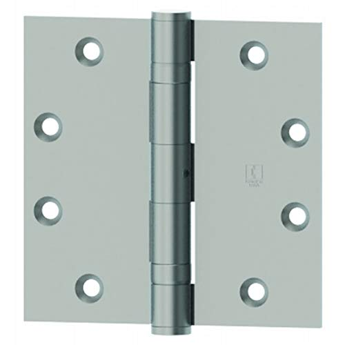 Hager 127931226D 3-1/2 x 3-1/2 Full Mortise Five Knuckle Plain Bearing Standard Weight Hinge # 010870 Satin Chrome Finish