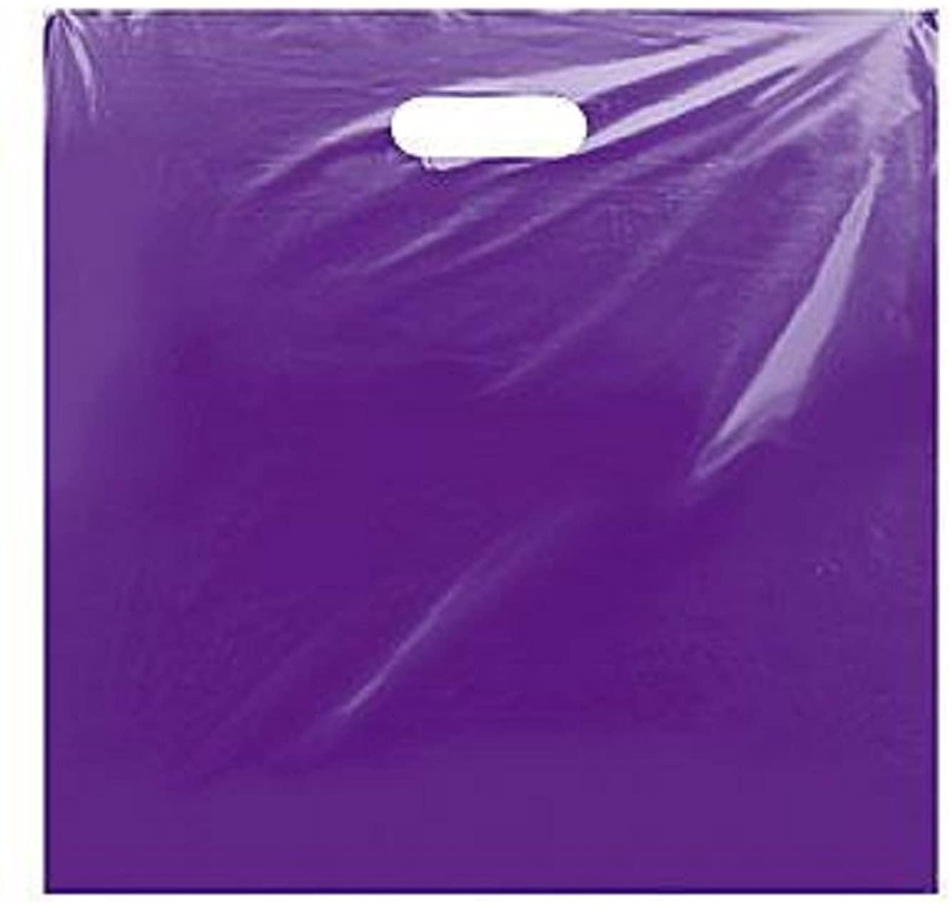 Jumbo Purple Low Density Merchandise Bag 20 x 20 x 5 Case of 500