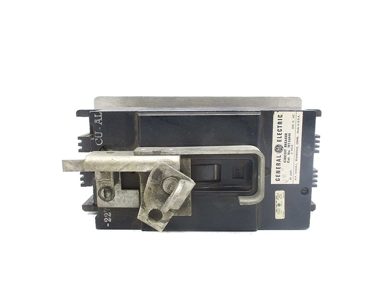 General Electric TF136040 40A 600VAC (AS Pictured) UNMP