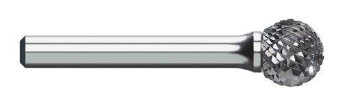 Titan TB19512 Solid Carbide Bur, Double Cut, Ball Shape, 1/4