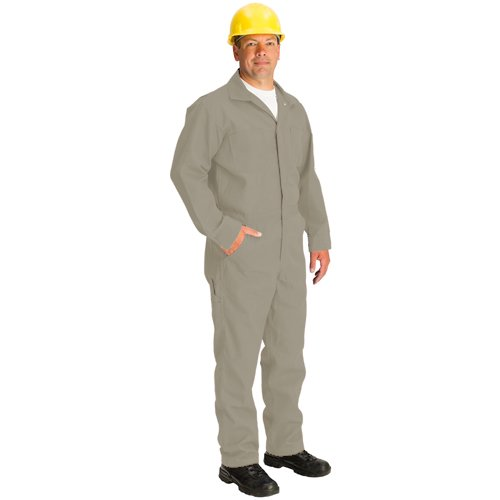 TOPPS SAFETY CO07-5550-X-Tall/42 CO07-5550 Nomex Coverall, 4.5 oz, X-Tall/Size 42, 6-3 1/2 to 6-6, Tan