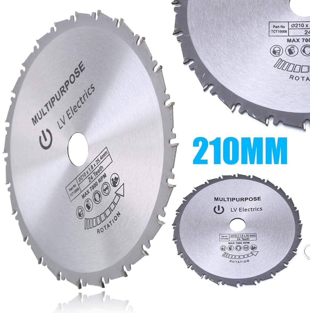 Pumbaa High Hardness 210mm Circular Saw Blade Disc Wood Plastic Circular Metal Saw Blade For Rage Rage4 RageB 25.4mm Bore Evolution 24T