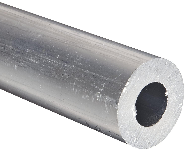 Aluminum 6061-T6 Extruded Round Tubing, ASTM B210, 1/2