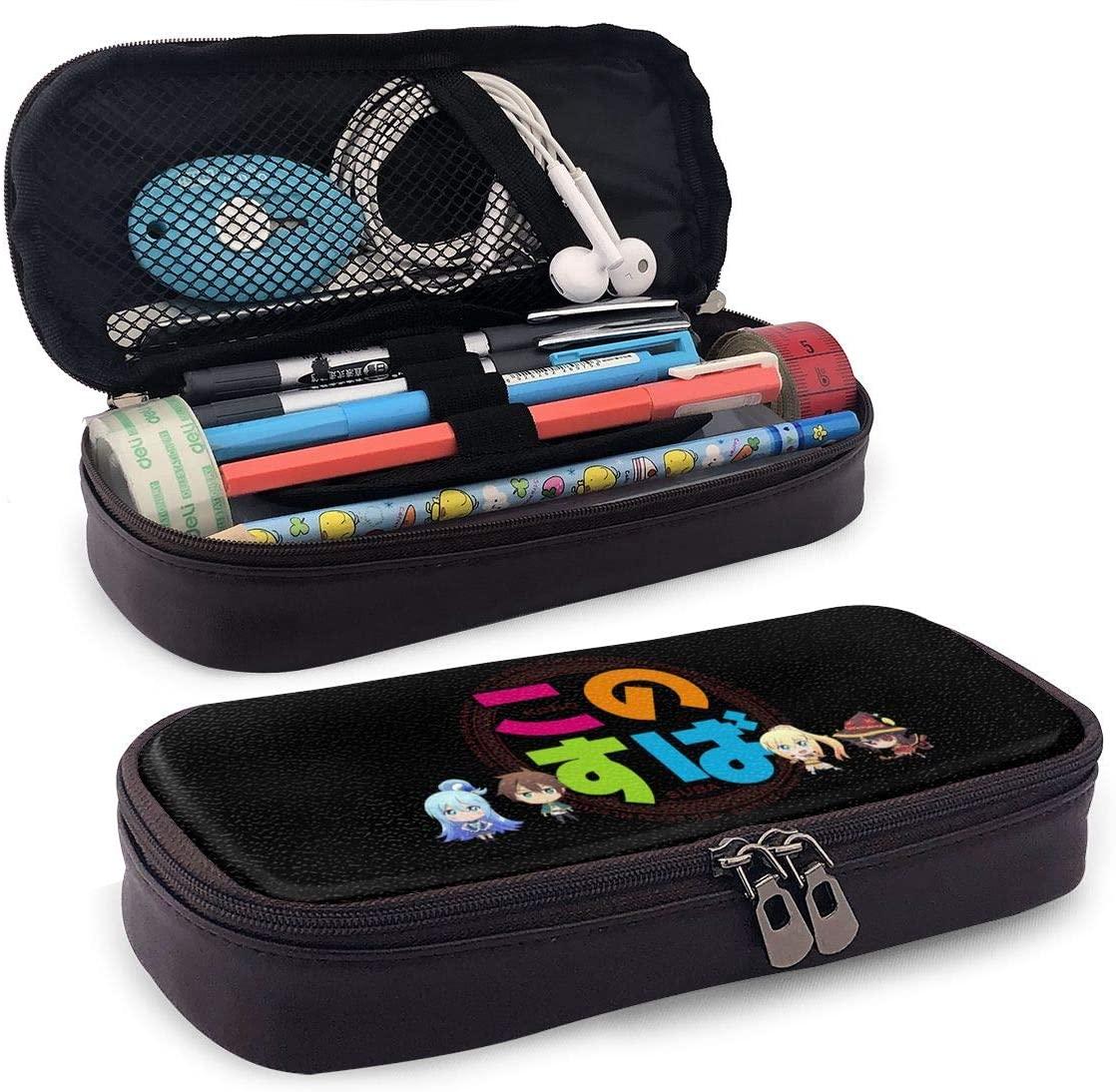 Konosuba Teenager Pencil Bag, Small Tool Bag, Cosmetic Bag, Multi-Purpose Bag