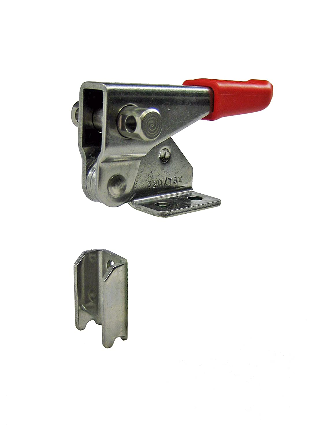 JW Winco Series GN 851.1-NI Stainless Steel Vertical Hook-Type Toggle Clamp with Latch Bracket Without Pulling Latch, Type T, Metric Size, Clamp Size 320, 3200 Newton Holding Capacity