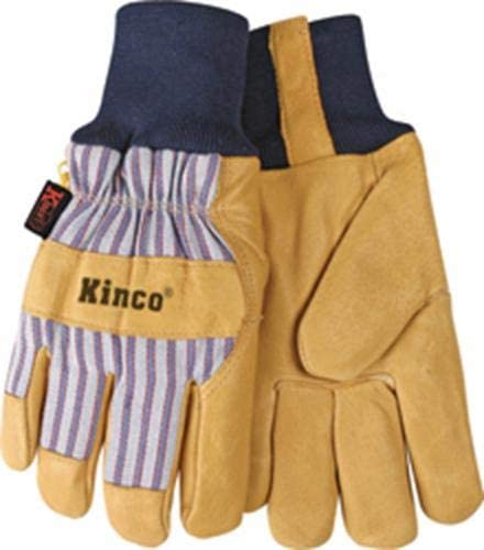 Kinco 1927KW Lined Premium Grain Pigskin Palm with Knit Wrist Glove