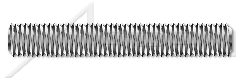 (10 pcs) M16-2.0 X 1m, DIN 976-1, Metric, Studs, Left-Hand Thread, Full Thread, A2 Stainless Steel