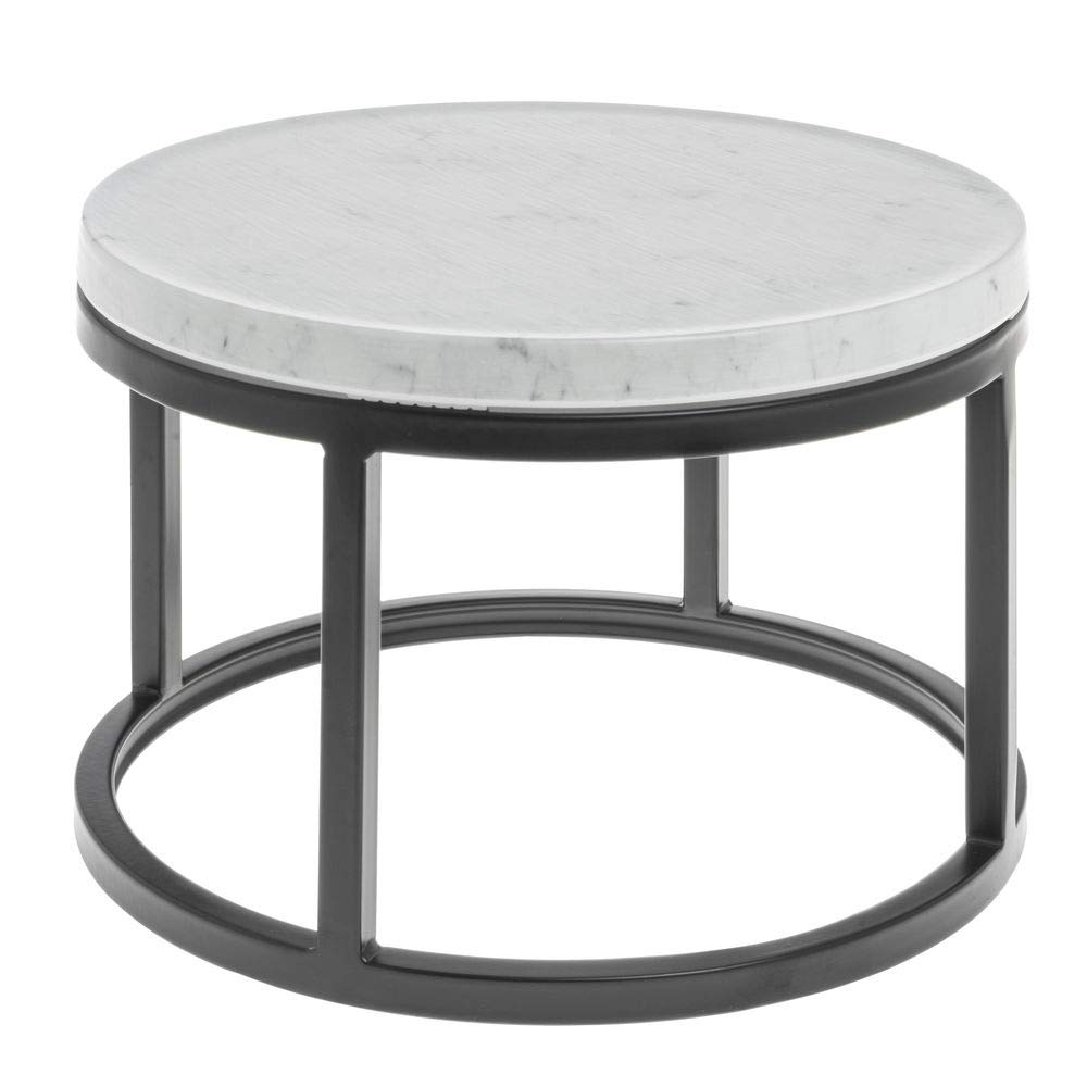 Hubert Cerve Collection Black Large Riser with Marble Top - 11 1/5