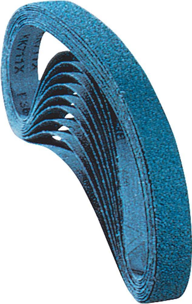 PFERD 49697 Abrasive File Belt, Zirconia Alumina Z, 24 Length x 1/4 Width, 40 Grit (Pack of 10)