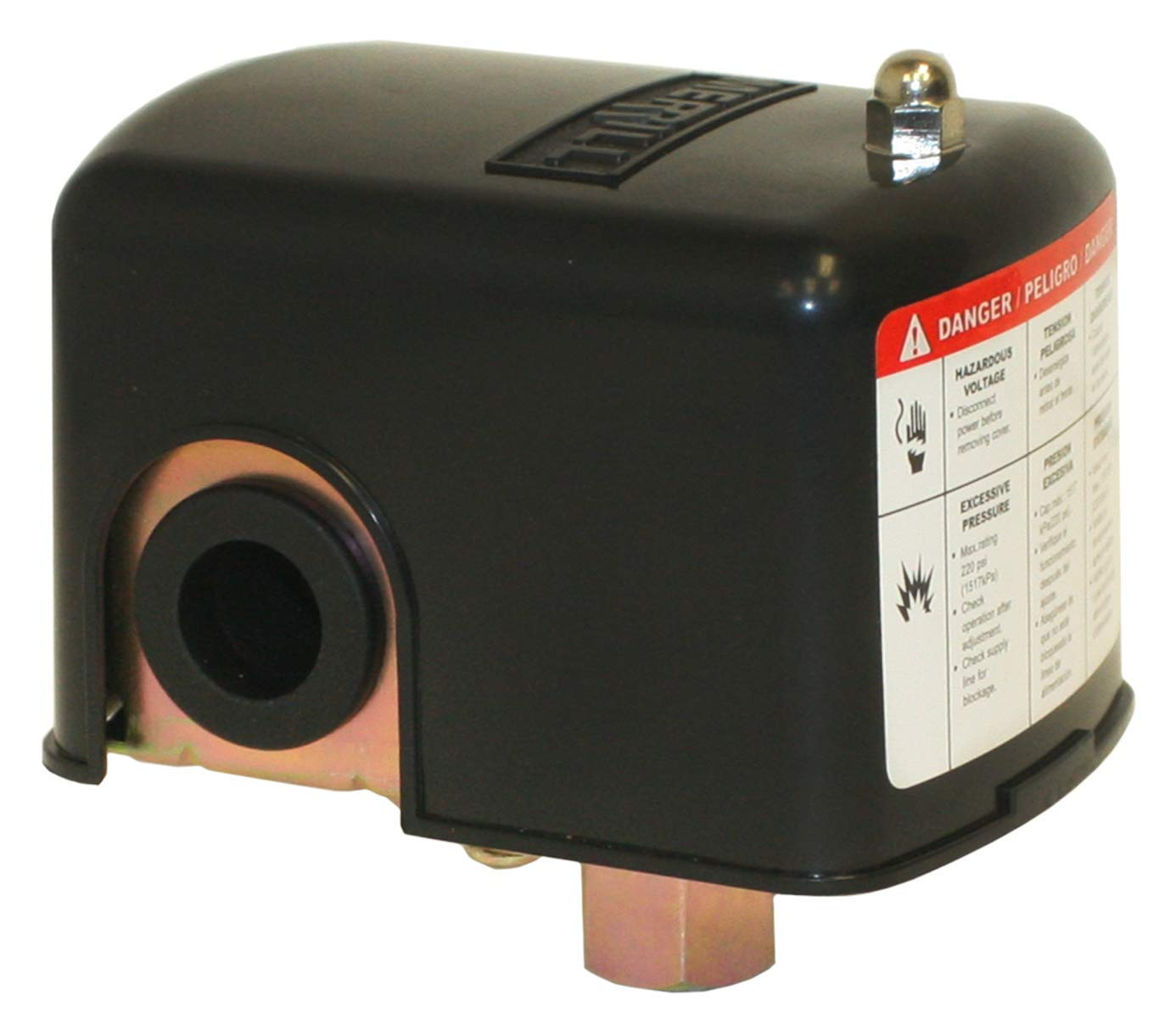 Merrill Mfg 20/40 No-Lead Pressure Switch, Plastic, Metal, 4.05 X 3.89 X 2.91