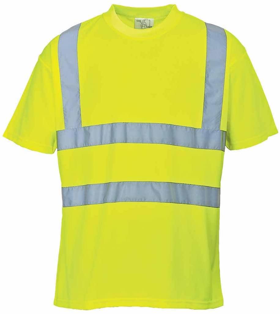 Portwest US478YERM Regular Fit Hi-Vis T-Shirt, Medium, Yellow