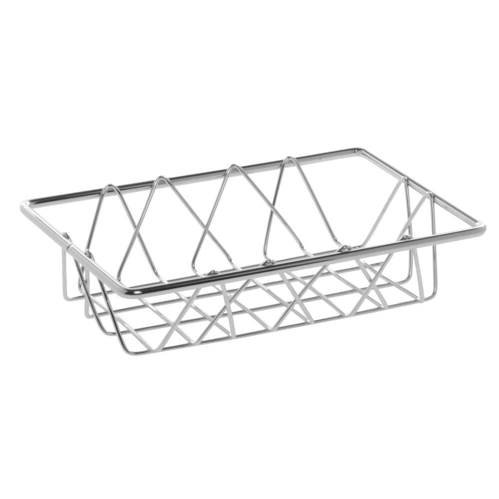 HUBERT Wire Display Basket Rectangular Chrome Plated Pastry Basket Bakery Tray - 9