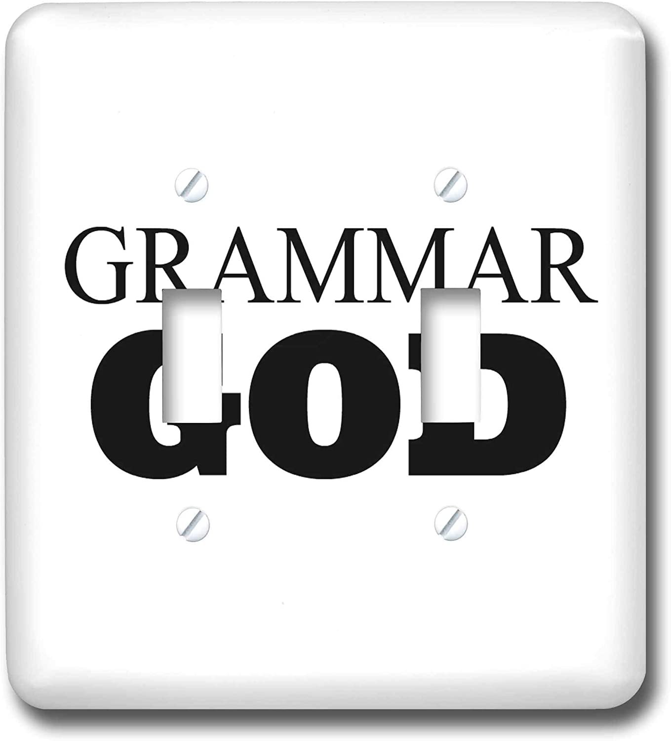 3dRose Carrie Merchant 3drose Quote - Image of Grammar God - double toggle switch (lsp_308325_2)