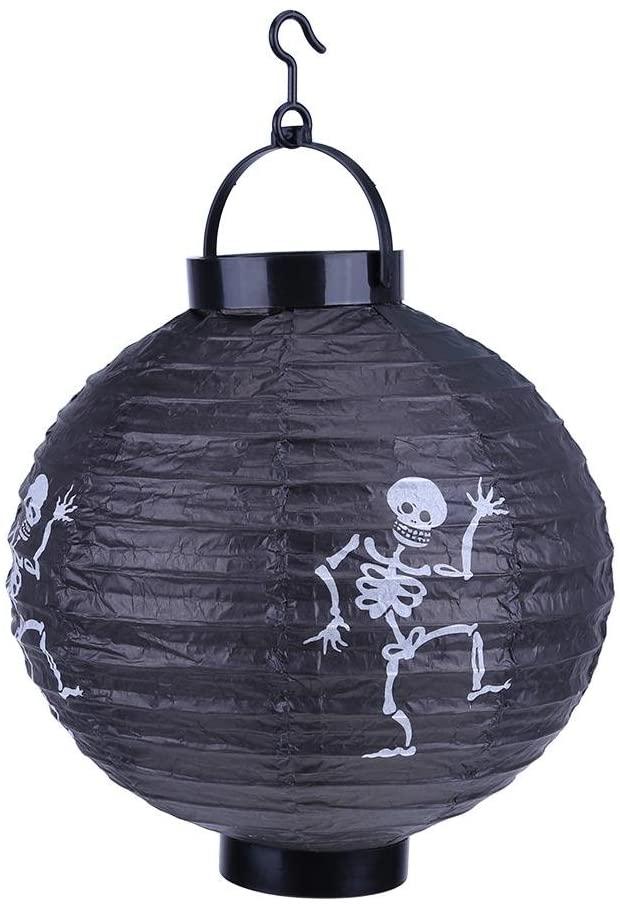 Halloween Paper Lantern ,Awakingdemi LED Paper Pumpkin Hanging Lantern Light Lamp Halloween Party Decor