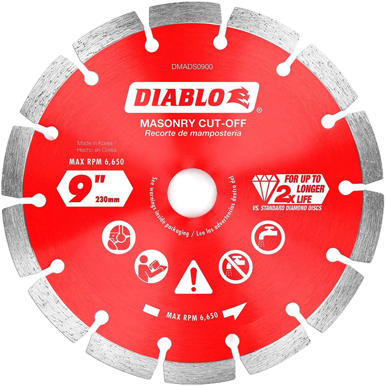 Diablo DMADS0900 9 in. Diamond Segmented Cut-Off Discs for Masonry