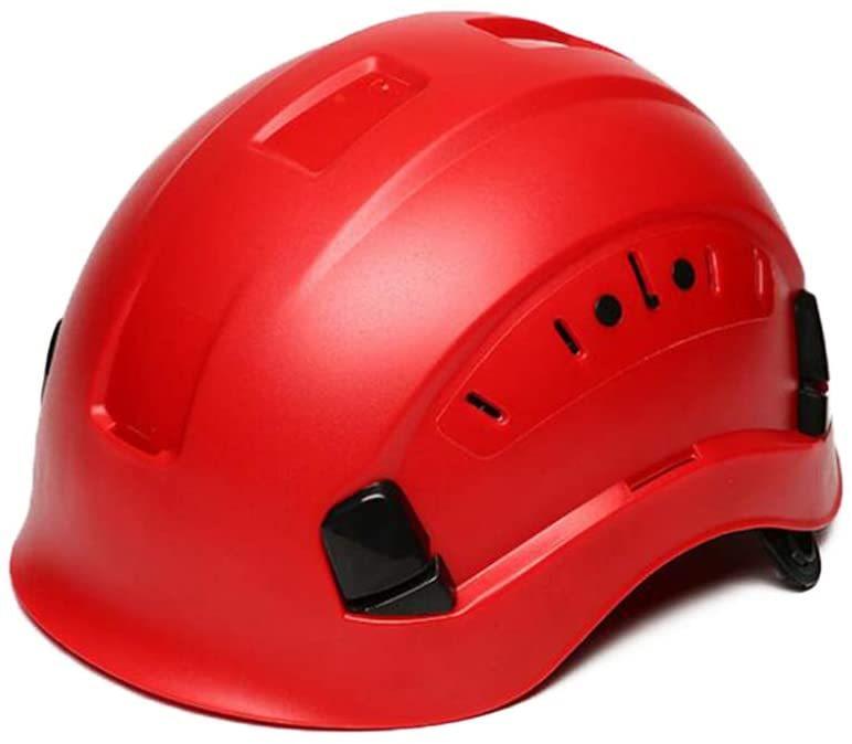 Moolo Hard Hat Construction Safety Helmet, Hard Hat Worker Helmet Construction Site Ventilated H Type Breathable Safety Helmet (Color : Red)