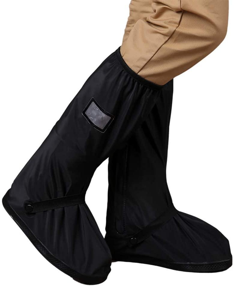 Rainproof Rain Boot Cover Skidproof Thickening Men Rain Shoes Outdoor Waterproof Rain Boot Shoe Cover (XL)