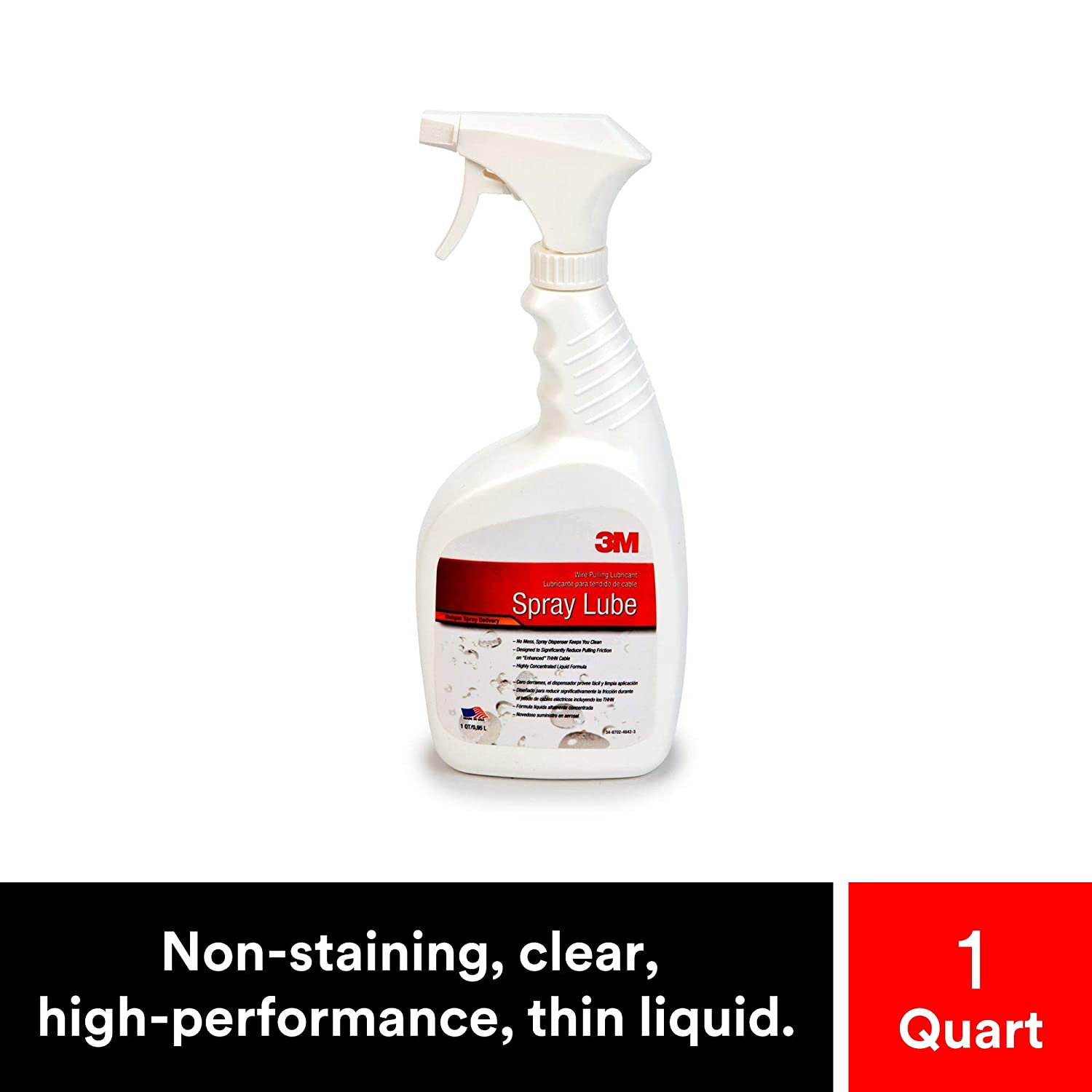 3M Wire Pulling Lubricant Spray WLS-QT, excellent cling and wetting properties
