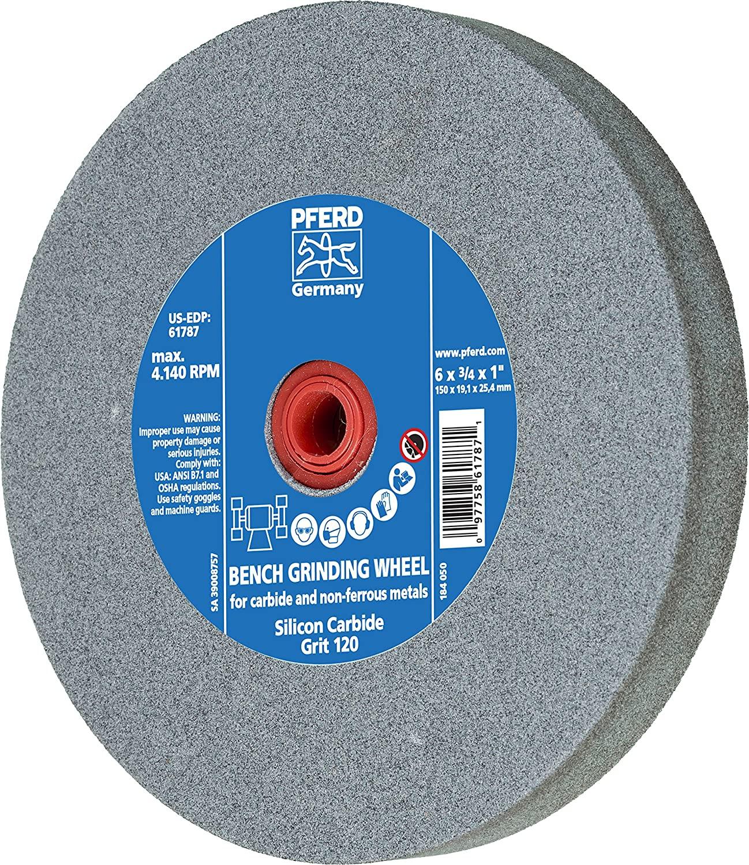 PFERD 61787 Bench Grinding Wheel, Silicon Carbide, 6
