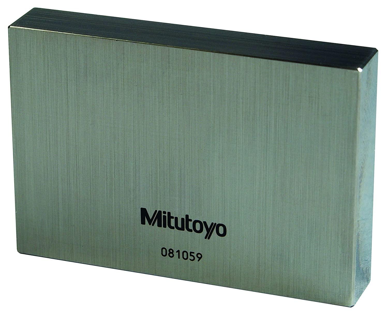 Mitutoyo 611310-516 Steel Rectangular Gage Block, ASME Grade K, 0.010