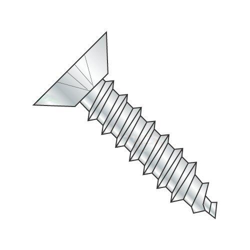 #8 x 1 1/2 Type A Self-Tapping Screws/Phillips/Flat Undercut Head/Steel/Zinc (Carton: 4,000 pcs)