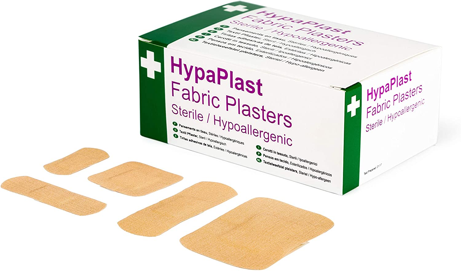 Safety First Aid Group Hypa Plast Fabric Plasters - Assorted (Pack of 100)