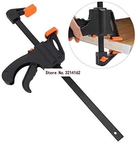 Ochoos 12 Inch Wood-Working Bar Clamp Quick Ratchet Release Speed Squeeze DIY Hand Tool 07NOV