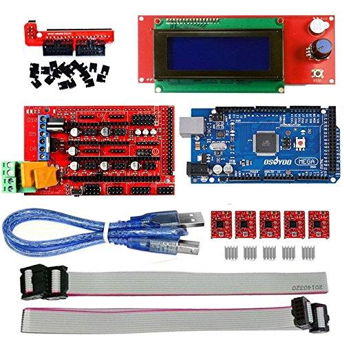 1PCS 3D Control Board kit, 2004LCD Control Board 2560r3 Main Control Board 4988 Driver Board 3D1.4 Control Panel