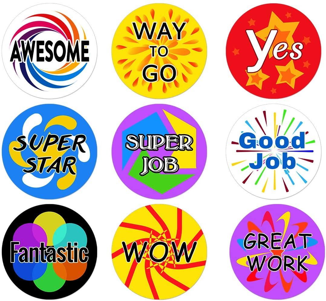 Motivational Stickers for Children Set of 1,188 - Group Education, Chore Boards and Incentive Program for Teacher and Parents