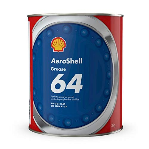 AeroShell Grease 64 Extreme Pressure Synthetic Molybdenum Disulphide Aircraft Grease - 3 Kg (6.6 lb) Can