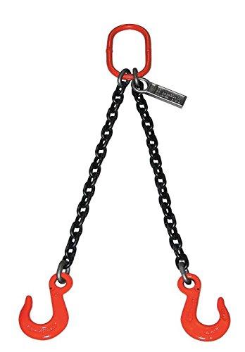 Liftall 932DOSW10X10 Chain Sling, Double Leg, 7400 lb, 9/32