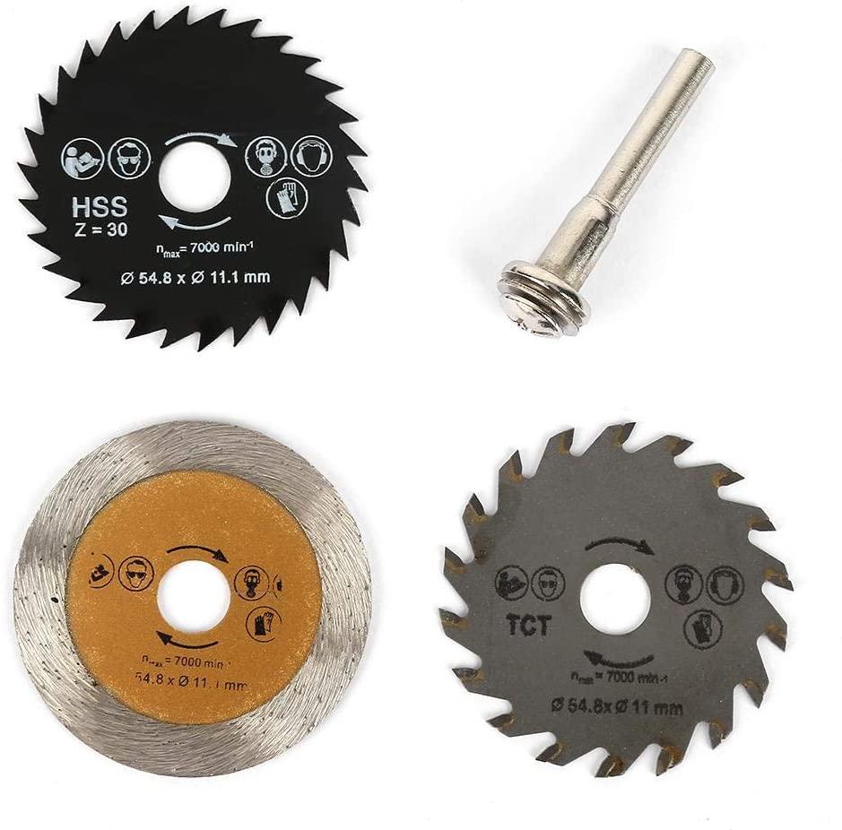 3pcs Mini Diamond Saw Blade Cutting Disc Rotary Wheel Grinding Tool Accessories