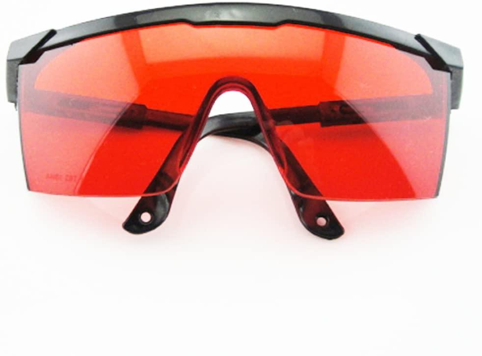 Red Safe Glasses goggle For 190nm-532nm Blue Violet Green Laser Pointer